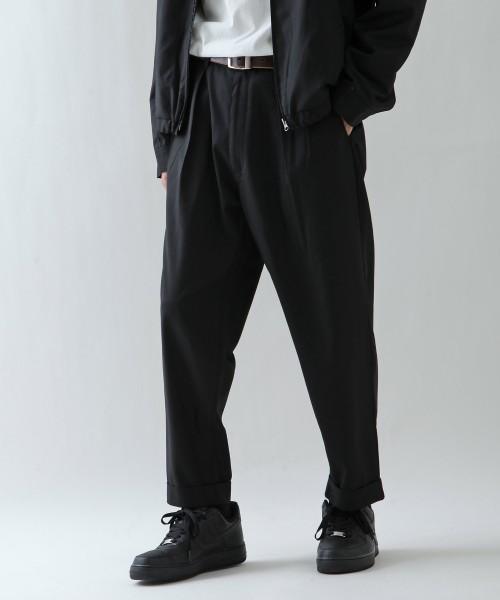 《セールクーポン発行中 本日エントリーでP7倍》テーパードパンツ メンズ セットアップも可 パンツ ズボン テーパード ワイドパンツ ボトムス 無地 チェック 刺繍 カンゴール メンズファッション ZIP FIVE ジップファイブ 夏 夏物 夏服 (kgaf-0004) 送料無料-除外地域有